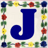 Bouquet Talavera Clay House Letter J