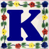 Bouquet Talavera Clay House Letter K