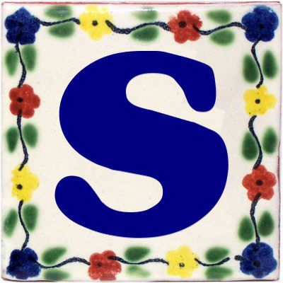 Bouquet Talavera Clay House Letter S