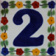 Bouquet Talavera Tile Number Two