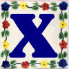 Bouquet Talavera Clay House Letter X
