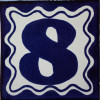 Blue Talavera Tile Number Eight