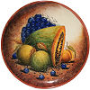 Round Grapes Talavera Ceramic Platter