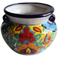 Rainbow Talavera Ceramic Pot