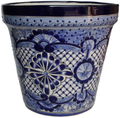 Big Blue Deco Talavera Ceramic Pot
