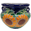 Small-Sized Sunflower Mexican Colors Talavera Ceramic Garden Pot