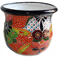 Azteca Mexican Colors Talavera Ceramic Garden Pot