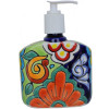 Small-Sized Rainbow Talavera Soap Container
