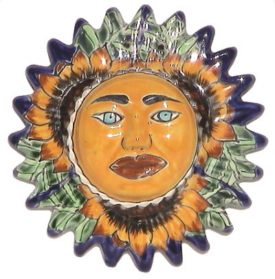 Small-Sized Sunflower Talavera Ceramic Sun Face