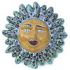 Green Peacock Small Talavera Ceramic Sun Face