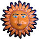 Medium-Sized Talavera Ceramic Sun Face