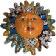 Medium-Sized Rainbow Talavera Ceramic Sun Face