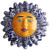 Blue Talavera Ceramic Sun Face