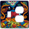Rainbow Talavera Toggle-Outlet Switch Plate