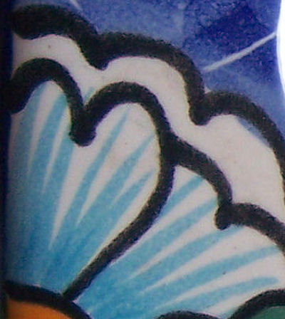 Decora-Outlet Blue Mesh Talavera Switch Plate