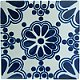 Blue Bouquet Talavera Mexican Tile