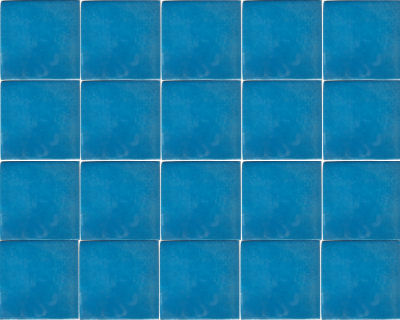 Aqua Blue Talavera Mexican Tile Close-Up