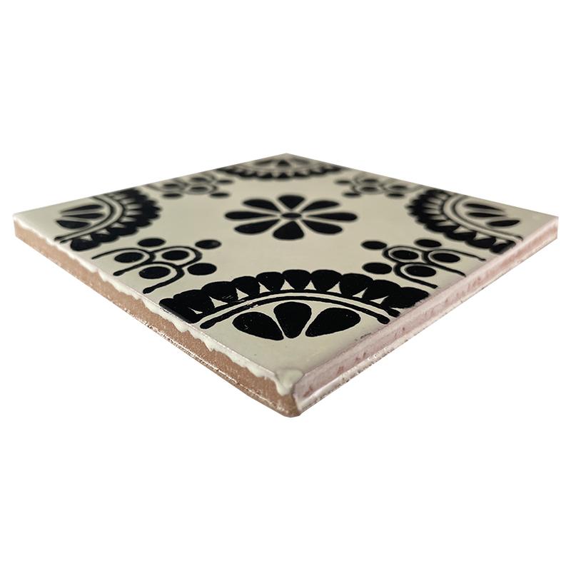 Black Madrid Talavera Mexican Tile
