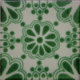 Green Bouquet Talavera Mexican Tile