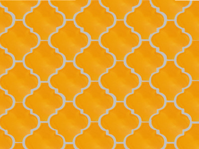 Lantern Yellow Mexican Tile Details