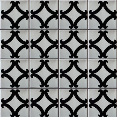 Black Diamond Talavera Mexican Tile Close Up