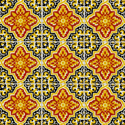 Covelo Talavera Mexican Tile Close-Up
