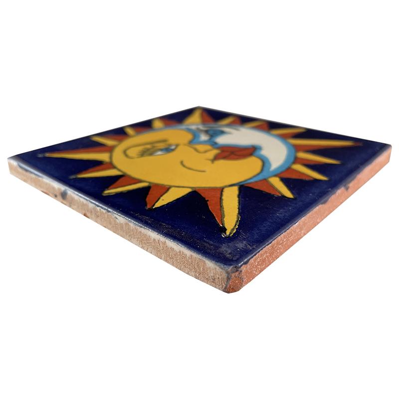 Sun And Moon Talavera Mexican Tile