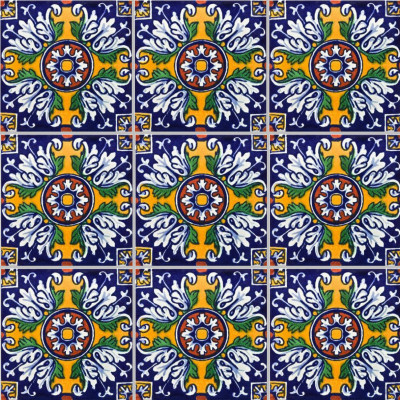 Aldeno Talavera Mexican Tile Close-Up