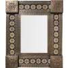 Small Brown Zarza Tile Mexican Mirror