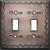 Double Toggle Antique Tin Switchplate