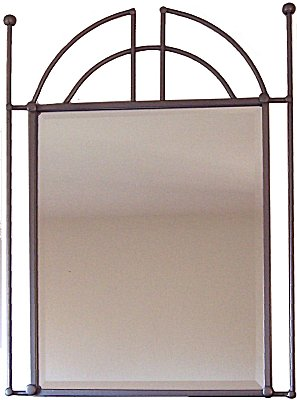Pioneer Beveled Silver Wrought Iron Mirror