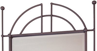Pioneer Beveled Silver Wrought Iron Mirror Details