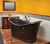 Hammered Copper Bathtubs