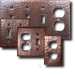 Hammered Copper Switchplates Outlet Switch Plates Antique