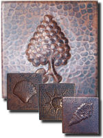 Hammered Copper Tile