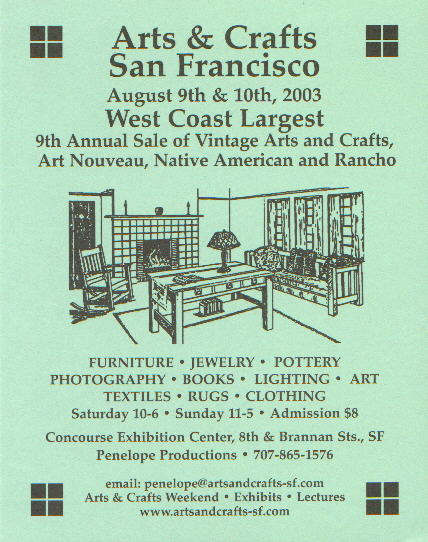 Art Calendar San Francisco : Fine crafts imports press releases