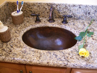 Hammered Bathroom Copper Sinks