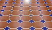 Octagon Floor Tile With Inserts Pattern