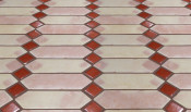 Picket with Decorative Inserts Mexican Floor Tile Pattern